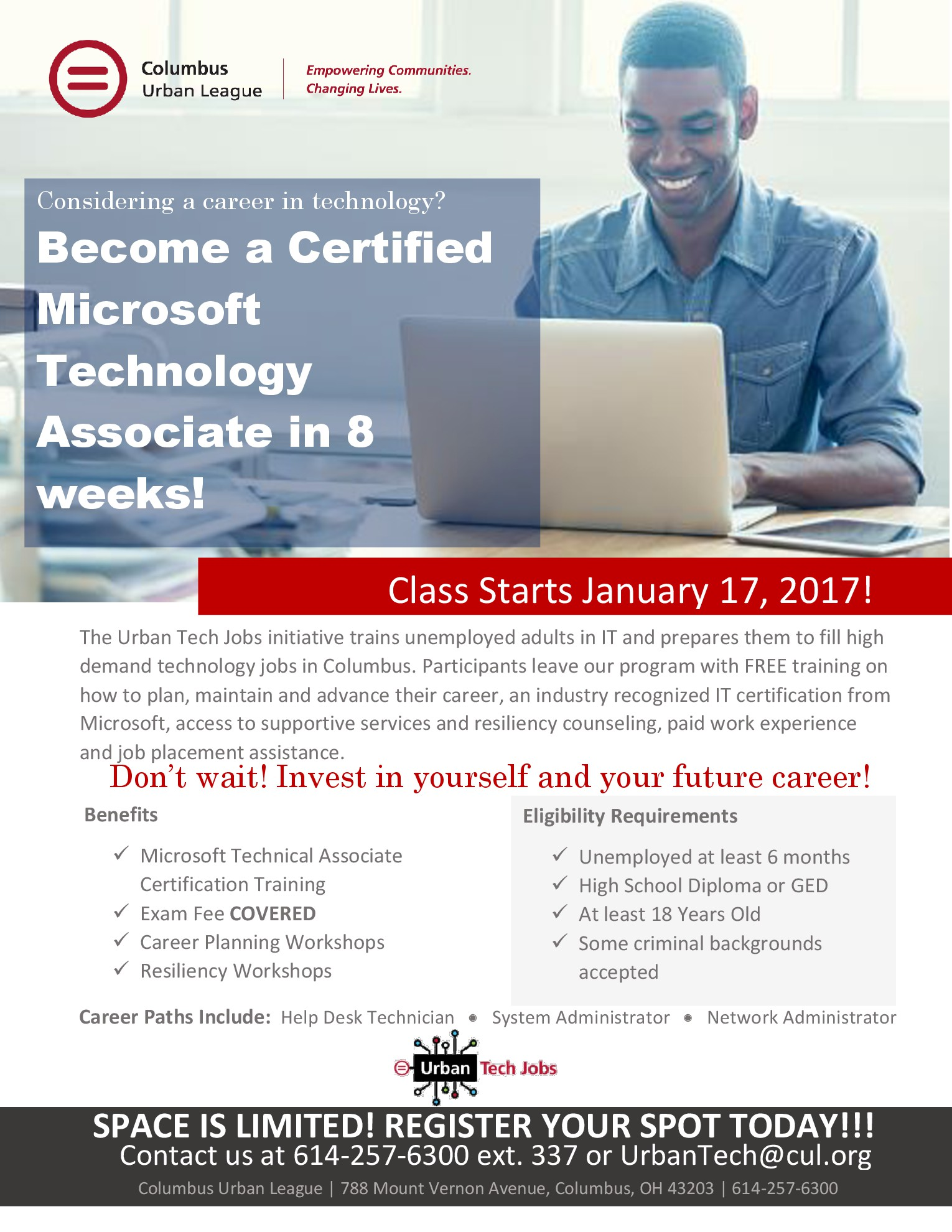 urban technology jobs program the columbus urban league columbus hard outcomes target train and place people in technology jobs often filled by h 1b candidates create more wealth and opportunity in central ohio and