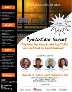 The New Tax Cuts & Jobs Act (TCJA) Encore @ Columbus Urban League