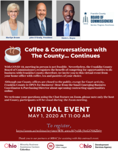 Coffee and Conversations with Franklin County...Continues!  A Virtual Event @ LIVE via Zoom
