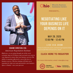 Negotiating Like Your Business Life Depends On It @ Live via Zoom