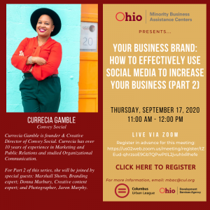 Your Business Brand: How to Effectively Use Social Media to Increase Your Business - Pt. 2 @ Live via Zoom