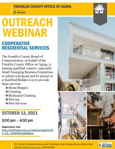 Franklin County Outreach for Home Repair Contractors @ Live via Zoom
